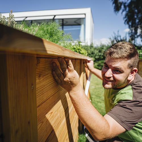 Hochbeet Bau Lärchenholz