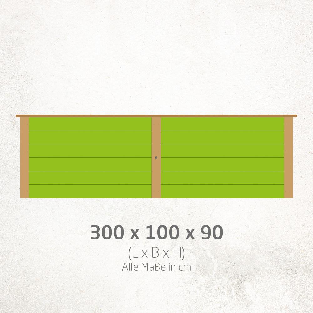Hochbeet_300x100x90cm